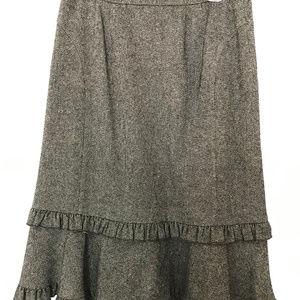 Ann Taylor Loft Brown Skirt with Ruffle Detail - 6